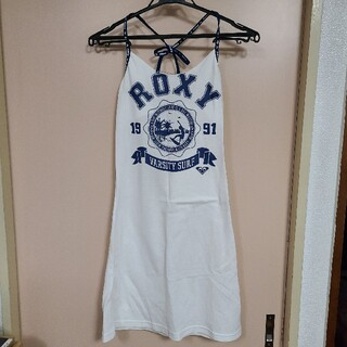 ロキシー(Roxy)のROXY カバーワンピース 水着 白 Sサイズ(水着)