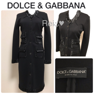 ドルチェアンドガッバーナ(DOLCE&GABBANA)の❤︎お値下げ可【美品】DOLCE&GABBANA  ロングカーディガン(カーディガン)
