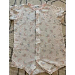 Disney - うさぎ柄のロンパースパジャマ70-80半袖夏