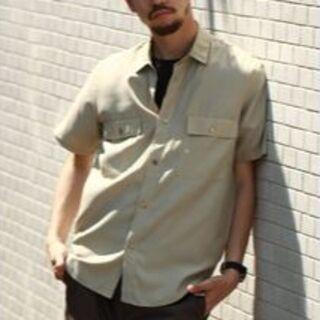 エディフィス(EDIFICE)の【未使用】 ダブルポケット レーヨン 半袖シャツ S エデフィス(シャツ)