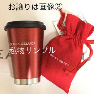 DEAN & DELUCA - DEAN&DELUCA 限定 赤色 巾着 と タンブラー(ラズベリーレッド)