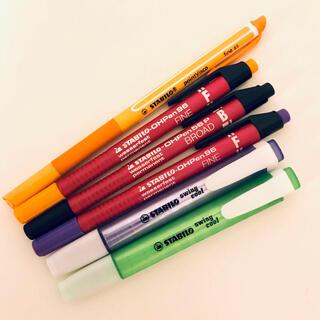 STABILO 油性ペン 蛍光ペン 6本セット(ペン/マーカー)