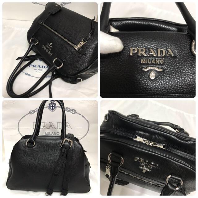 PRADA(プラダ)の❤︎お値下げ可【美品】PRADA レザー 2way ハンドバッグ ボストンバッグ レディースのバッグ(ショルダーバッグ)の商品写真