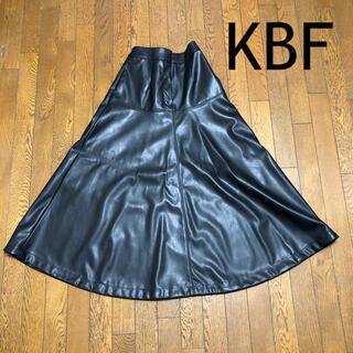 ケービーエフ(KBF)のKBF  フェイクレザースカート(ロングスカート)