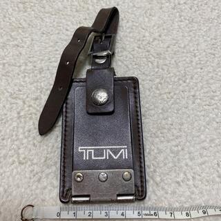 トゥミ(TUMI)のTUMI トゥミー ネームタグ レザーラゲッジタグ ブラウン(旅行用品)
