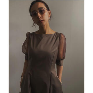 Ameri VINTAGE - sheer puff sleeve dress 新品