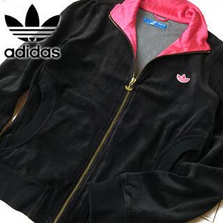 アディダス(adidas)の美品 OT(XL) アディダスオリジナルス レディース ベロアジャケット(その他)