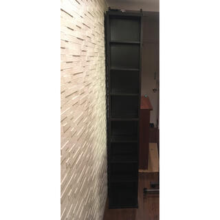 ヤマゼン(山善)のスリム本棚 書棚 書庫 ブックシェルフ 薄型 大容量(本収納)