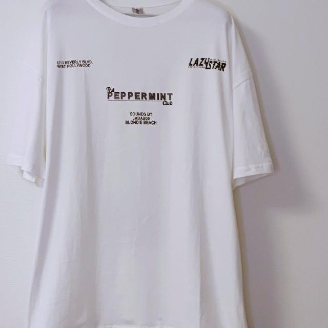 SALE✨新品✨XL オーバーサイズ Tシャツ 白 ユニセックス ホワイト メンズのトップス(Tシャツ/カットソー(半袖/袖なし))の商品写真
