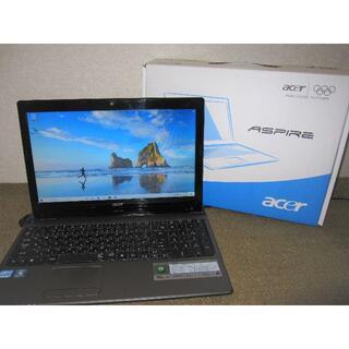 ★中古美品 Win10  i5 webカメラ Acer Aspire5750★