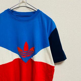 adidas - 美品 一点物 アディダスオリジナルス トリコロール トレフォイル Tシャツ