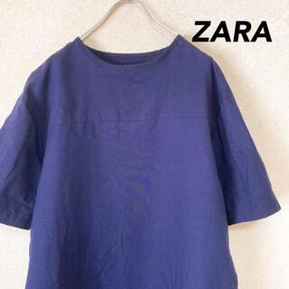 ザラ(ZARA)のザラ 半袖 Tシャツ 古着 肩 チャック メンズ レディース M  L(Tシャツ/カットソー(半袖/袖なし))