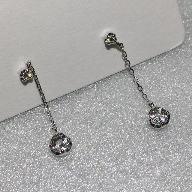 Vendome Aoyama(ヴァンドームアオヤマ)のヴァンドーム青山 ダイヤモンドピアス k10wg ネックレス セット 箱 保証書 レディースのアクセサリー(ネックレス)の商品写真