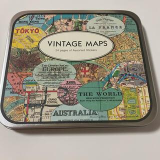 CAVALLINI&Co. VINTAGE MAPS ステッカー(シール)