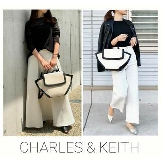 チャールズアンドキース(Charles and Keith)のCHARLES & KEITHラージトラペーズ トップハンドルバッグ(ハンドバッグ)