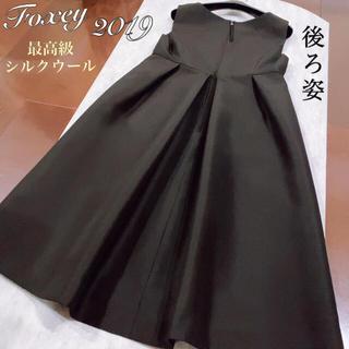 FOXEY - フォクシーFOXEY ワンピース✨最高級シルクウール2019♪定価約14万円38