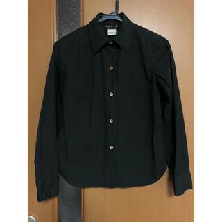 agnes b. - アニエスベー agnes b. ブラック コットン シャツ