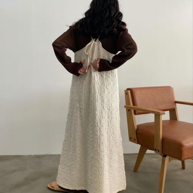 Kastane(カスタネ)のlawgy  uneven material cami op レディースのワンピース(ロングワンピース/マキシワンピース)の商品写真