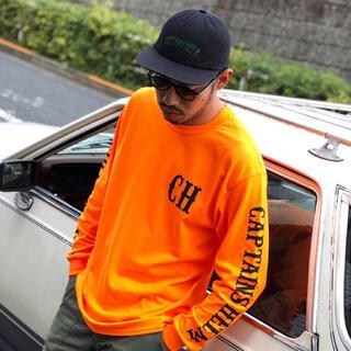 ネイバーフッド(NEIGHBORHOOD)のCAPTAINS HELM #LOCAL LOGO L/S TEE M オレンジ(Tシャツ/カットソー(七分/長袖))