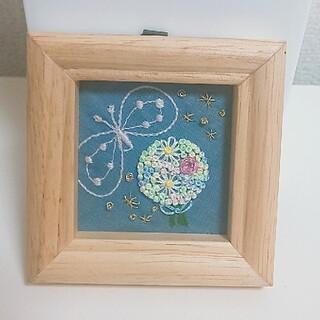 ミナペルホネン(mina perhonen)のミナペルホネン ブーケ 刺繍 ハンドメイド 壁掛け No.15(アート/写真)