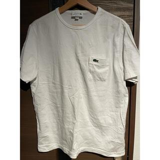 LACOSTE - LACOSTE  ベーシッククルーネックポケットTシャツ ホワイト
