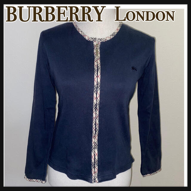 BURBERRY(バーバリー)のBURBERRY London ノーカラージッパーカーディガン レディースのトップス(カーディガン)の商品写真