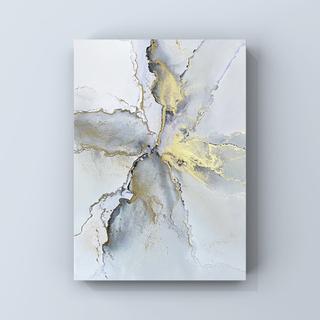 アルコールインクアート インテリアアート アートポスター《lightgray》(アート/写真)