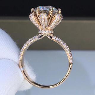 【豪華仕様】輝くモアサナイト  リング K18ピンクゴールド(リング(指輪))