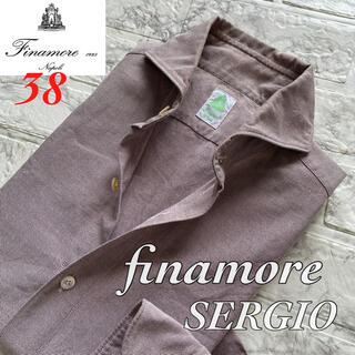 FINAMORE - 美品◆finamore フィナモレ セルジオ オックスフォードシャツ / S
