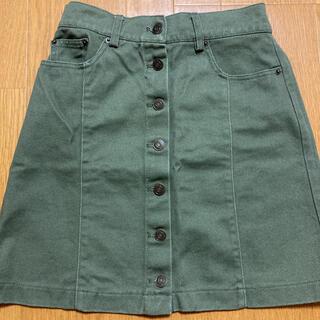 イング(INGNI)のイング モスグリーン スカート フロントボタン INGNI(ミニスカート)