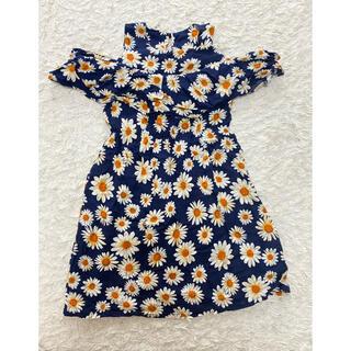 petit main - 韓国子ども服 花柄ワンピース 110センチ