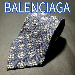 バレンシアガ(Balenciaga)の【極美品】BALENCIAGA 小紋 ネクタイ ネイビー イタリア製(ネクタイ)