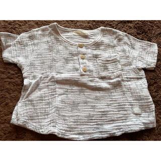 シマムラ(しまむら)のガーゼ生地 Tシャツ 2枚セット 星柄 60〜70cm(Tシャツ)