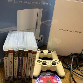 プレイステーション3(PlayStation3)の動作確認済 SONYPlayStation3 CECHH00CWソフト8本セット(家庭用ゲーム機本体)