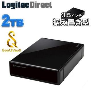 ELECOM - 外付けHDD 2TB SeeQVault ELD-QEN020UBK