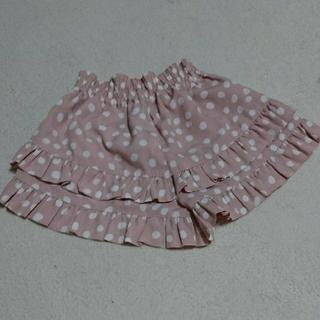ジーユー(GU)のж  GUキュロット120水玉ピンク(スカート)