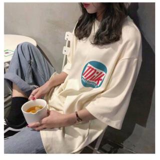 2021 milk 韓国 ロゴ 半袖 オーバーサイズ BIG Tシャツ ホワイト