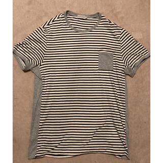 モンクレール(MONCLER)の国内正規品 ボーダー Tシャツ メンズ L ストライプ(Tシャツ/カットソー(半袖/袖なし))