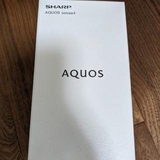 SHARP - 新品未開封 AQUOS sense4 ブラック SH-M15