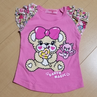 EARTHMAGIC - 100アースマジック ロリポップTシャツ ピンク