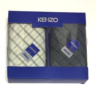 ケンゾー(KENZO)のKENZO メンズハンカチ 2枚セット(ハンカチ/ポケットチーフ)