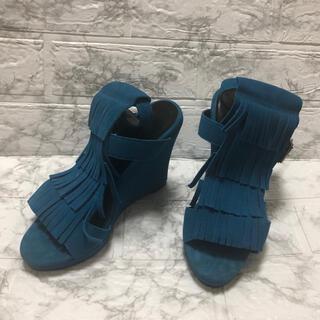 rienda - rienda サンダル ブルー