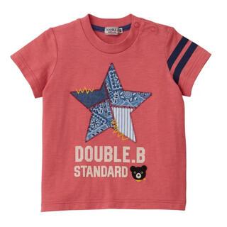 ダブルビー(DOUBLE.B)の★ダブルB★ペイズリーがアクセントになった半袖Tシャツ150★日本製★ミキハウス(Tシャツ/カットソー)