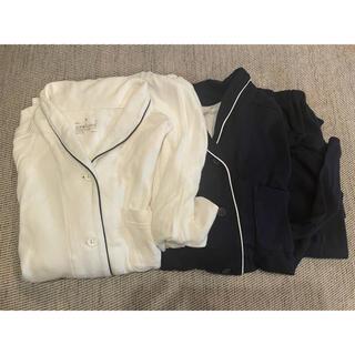 【無印良品】MUJI脇に縫い目のないパジャマ スムース編み2着セット