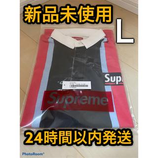 "Supreme - Supreme Stripe S/S Rugby ""Black/Red"""