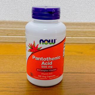 パントテン酸カルシウム now ナウフーズ  500mg 100カプセル (ビタミン)