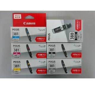 キヤノン(Canon)の新品 純正 キヤノン インク BCI-381 5色 380 1色 合計6本セット(PC周辺機器)