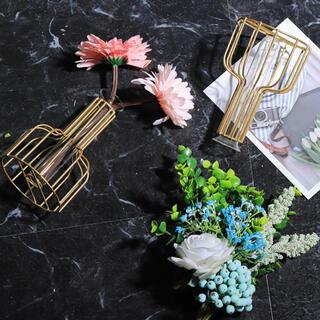 フラワーベース ゴールド 花瓶 欧米 インテリア(花瓶)