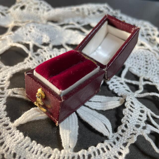リング ボックス リング ケース イギリス アンティーク レディースのアクセサリー(リング(指輪))の商品写真
