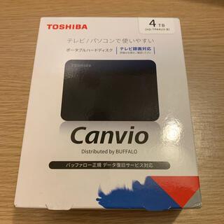 東芝 - 新品 東芝 HD-TPA4U3-B ポータブルHDD ブラック 4TB